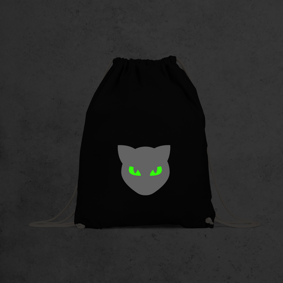 Cat glow in the dark backpack
