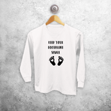 'Keep your footprint small' kids longsleeve shirt