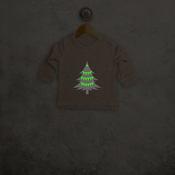 Christmas tree glow in the dark baby sweater