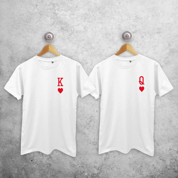 'King of hearts' & 'Queen of hearts' couples shirts