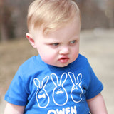 Fancy bunnies baby shortsleeve shirt