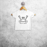 'Don't be crabby' baby shortsleeve shirt