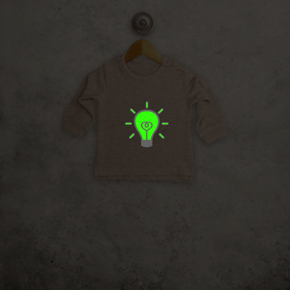 Light bulb glow in the dark baby sweater