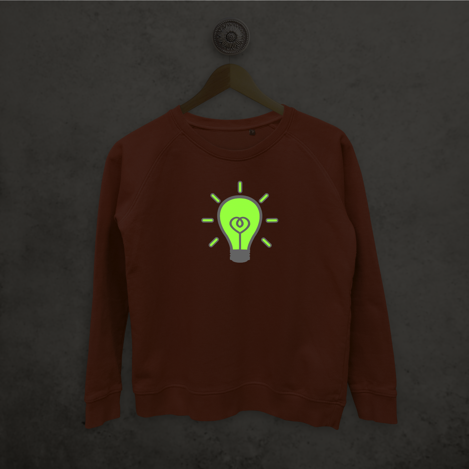 Light bulb glow in the dark sweater