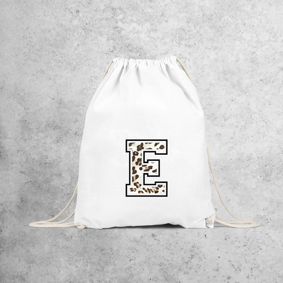 Leopard letter backpack