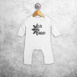 'Let it snow' baby romper