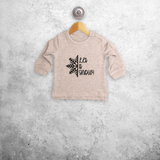 'Let it snow' baby sweater