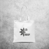 'Let it snow' tote bag