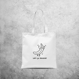 'Let's go bananas' tote bag