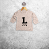 Letter and name baby sweater