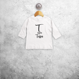 Letter and name baby longsleeve shirt