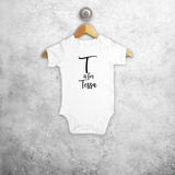 Letter and name baby shortsleeve bodysuit