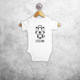 'Little king' baby shortsleeve bodysuit