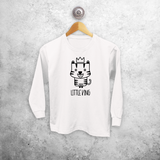'Little king' kids longsleeve shirt