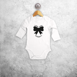 'Little miss' baby longsleeve bodysuit
