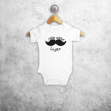 'Little mister 'baby shortsleeve bodysuit