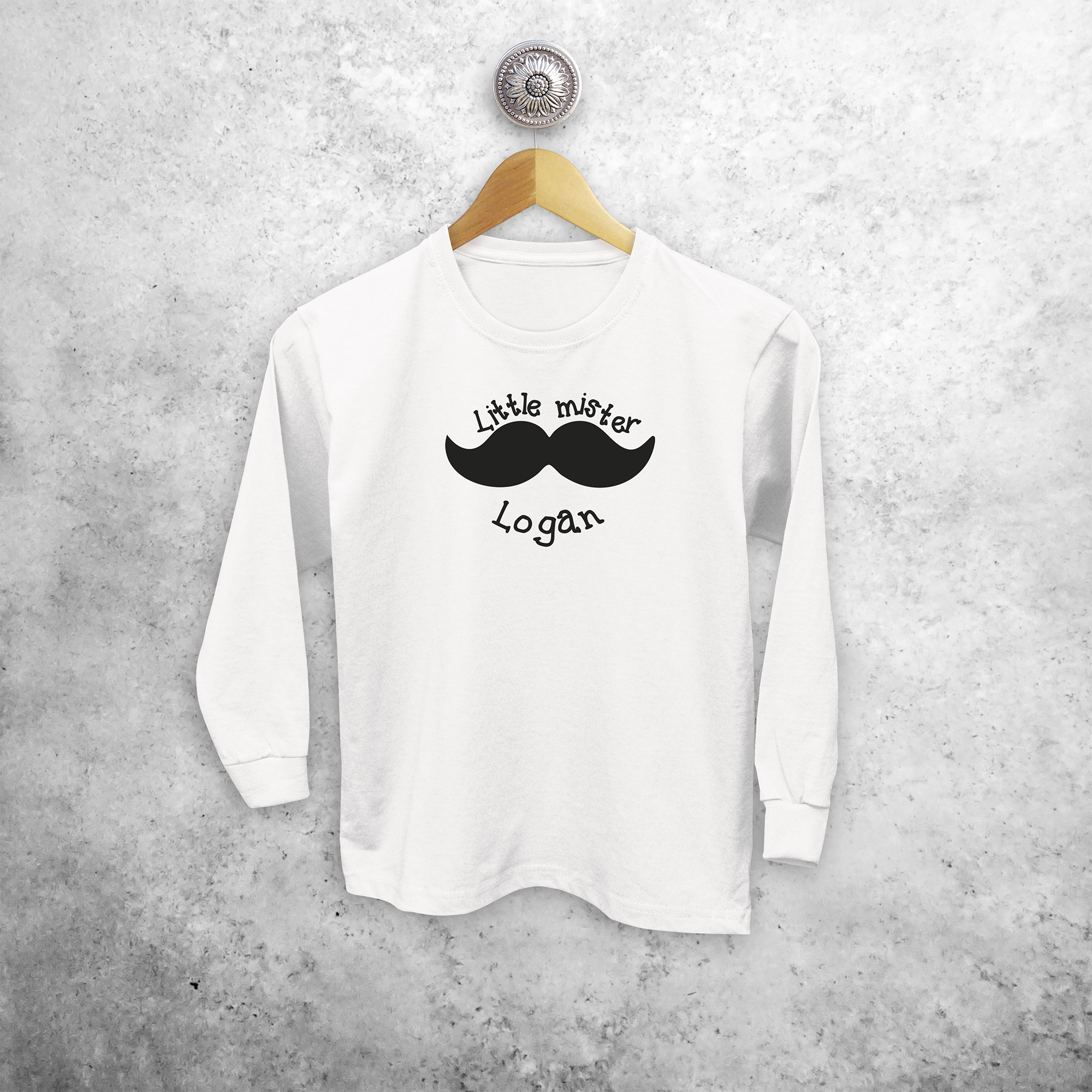 'Little mister' kids longsleeve shirt