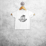 'Little pumpkin' baby shirt met korte mouwen