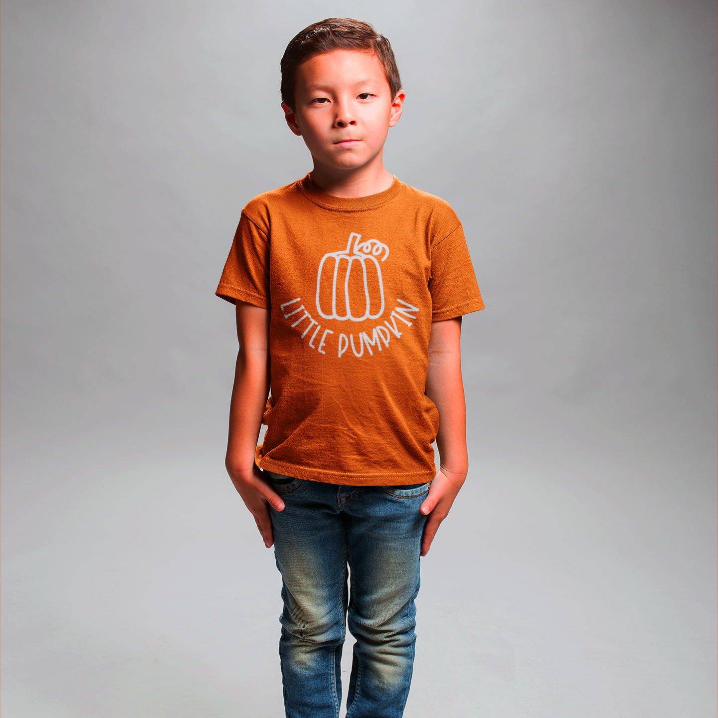 'Little pumpkin' kids shortsleeve shirt