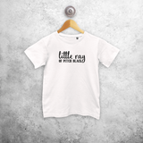'Little ray of pitch black' kids shortsleeve shirt