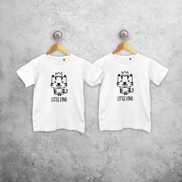 'Little king' & 'Little king' kids sibling shirts