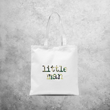 'Little man' tote bag