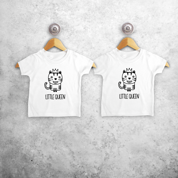 'Little queen' & 'Little queen' baby sibling shirts