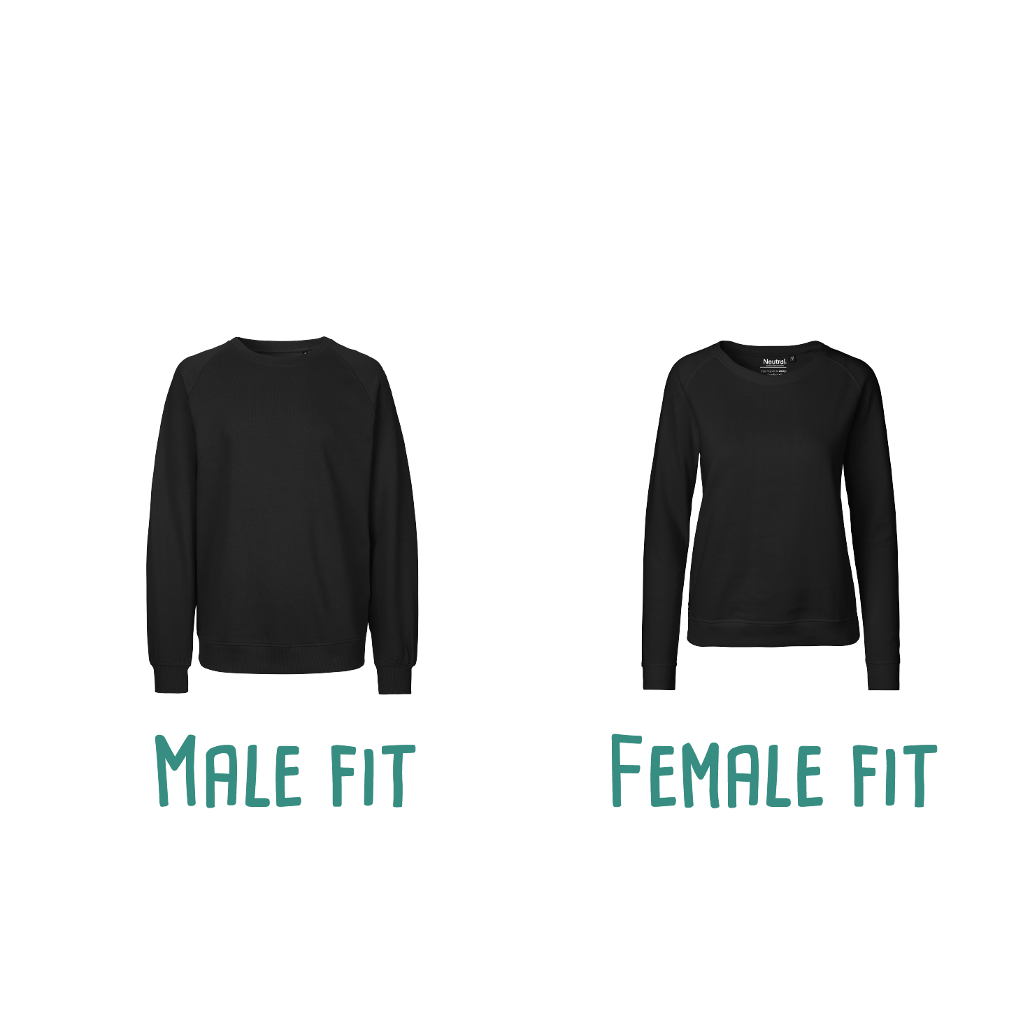 Difference between male or female fit of adult sweaters by KMLeon.