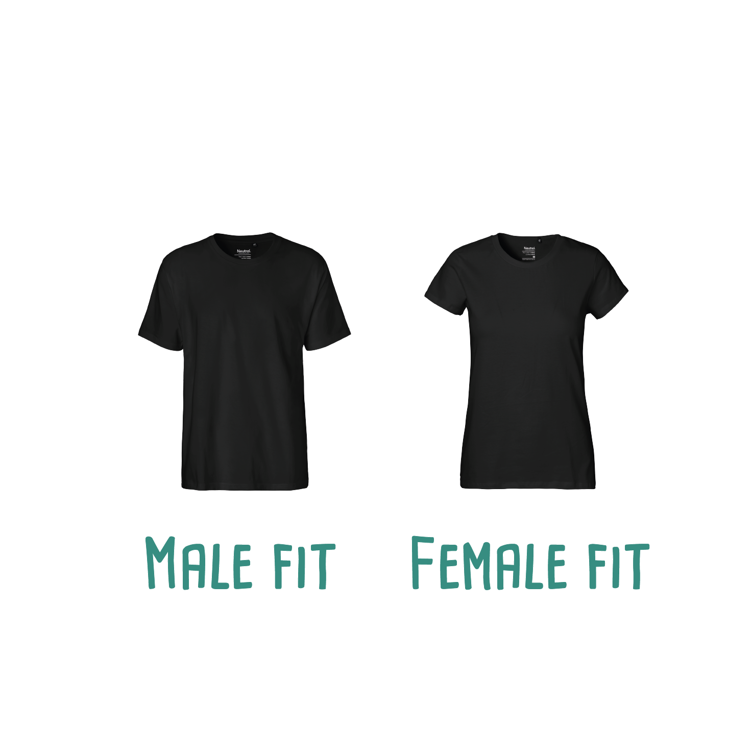 Difference between male or female fit of adult shirts with short sleeves by KMLeon.