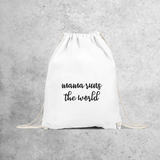 'Mama runs the world' backpack