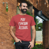 'May contain alcohol' adult shirt