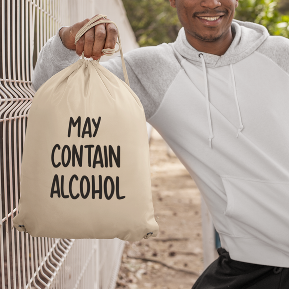 'May contain alcohol' backpack