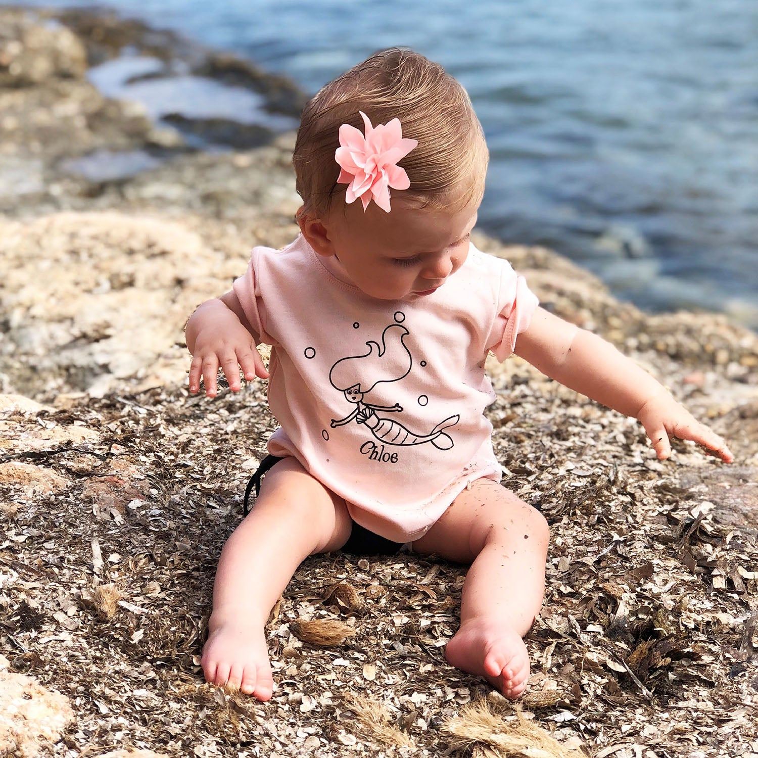 Mermaid baby shortsleeve shirt