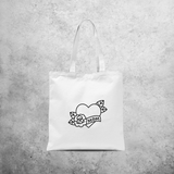 'Mom' tote bag
