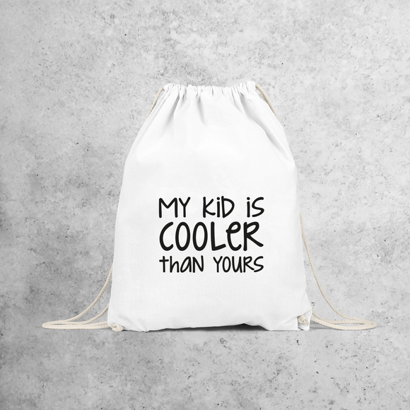 'My kid is cooler than yours' backpack