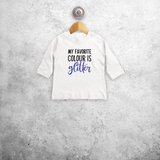'My favorite colour is glitter' baby longsleeve shirt