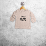 'Nap team captain' baby sweater