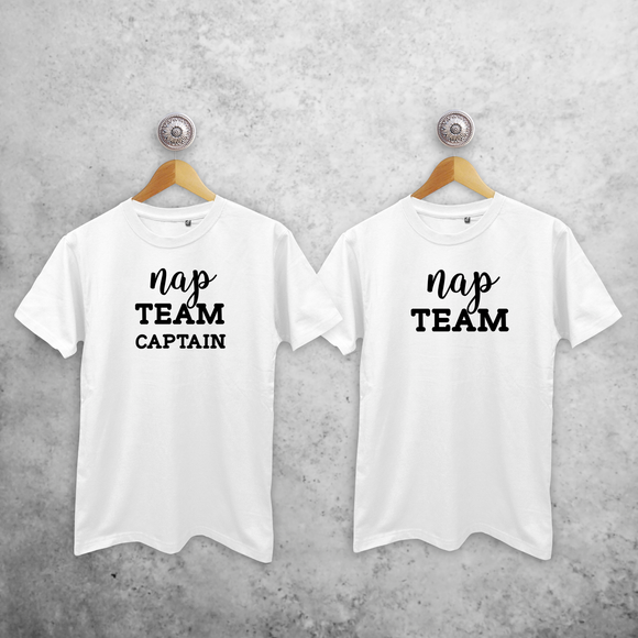 'Nap team captain' & 'Nap team' couples shirts