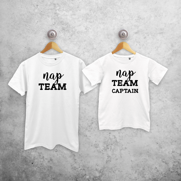 'Nap team' & 'Nap team captain' matching shirts