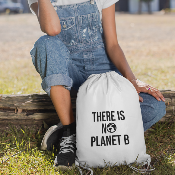 'There is no planet B' backpack
