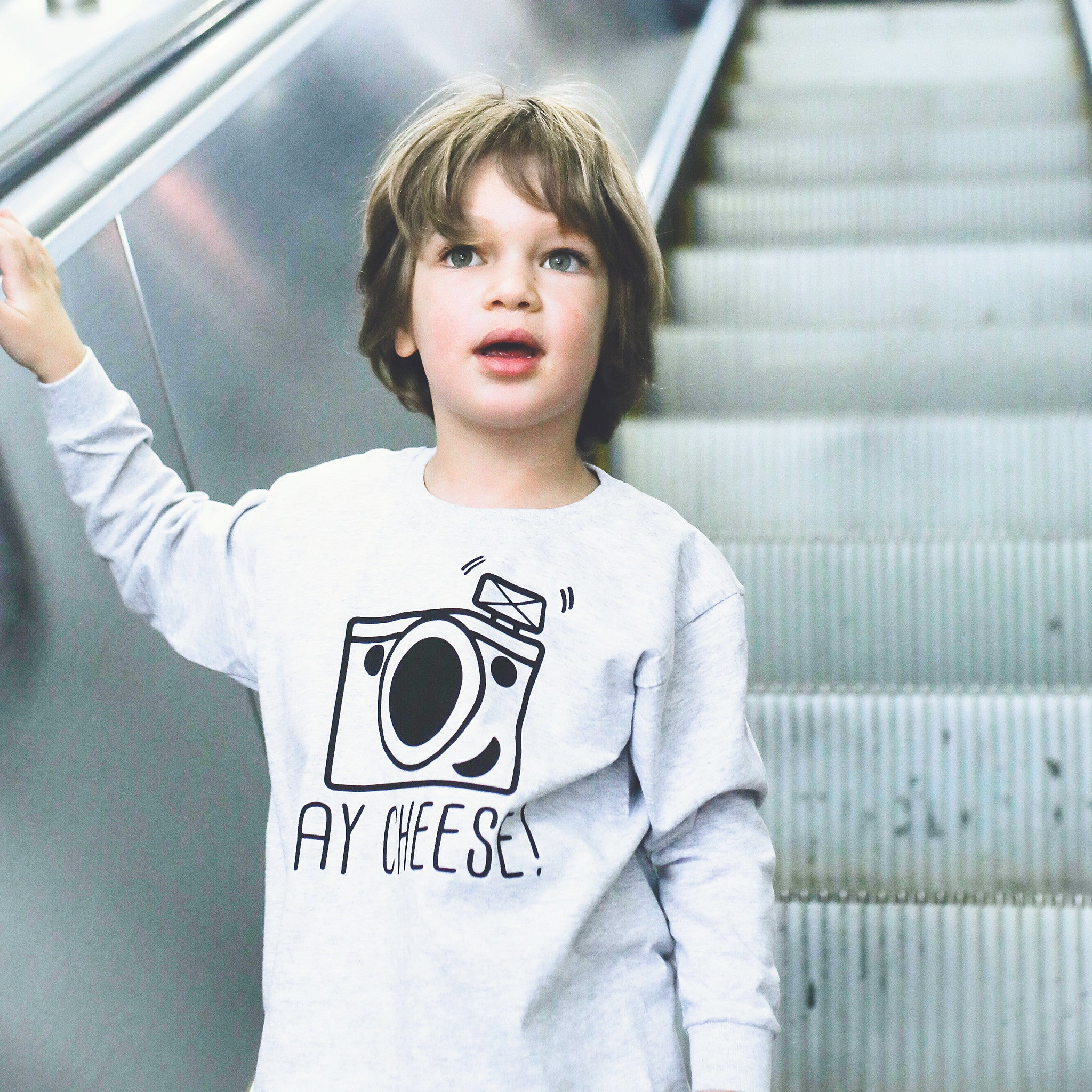 Say cheese' kids longsleeve shirt