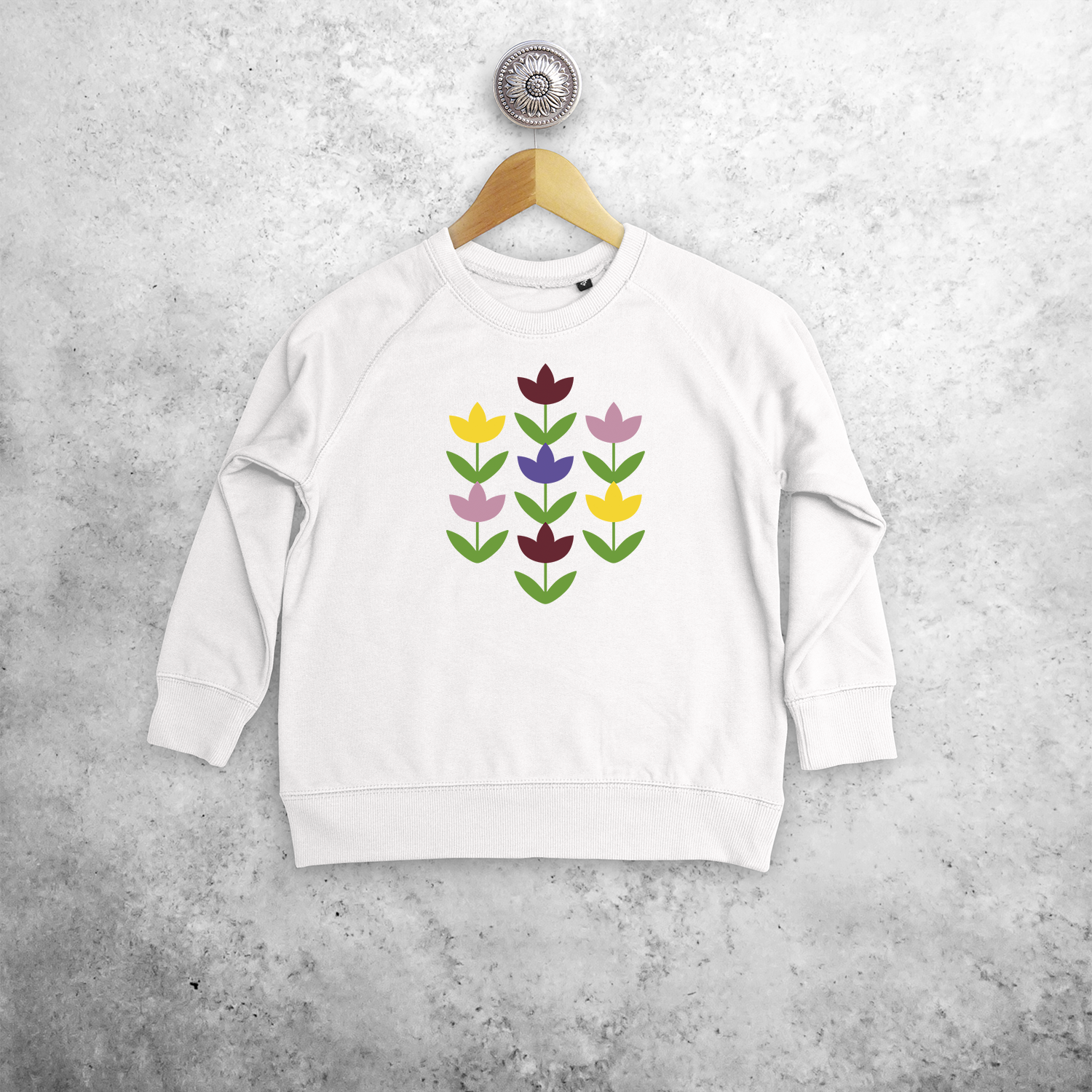 Flowers kids sweater