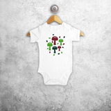 Mushrooms baby shortsleeve bodysuit