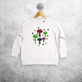 Mushrooms kids sweater