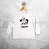 Pandacorn kids sweater