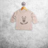 Easter bunny baby sweater