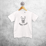 Easter bunny kids shortsleeve shirt
