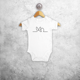 Easter baby shortsleeve bodysuit