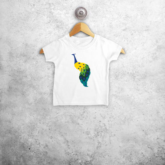 Peacock baby shortsleeve shirt