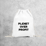 'Planet over profit' backpack